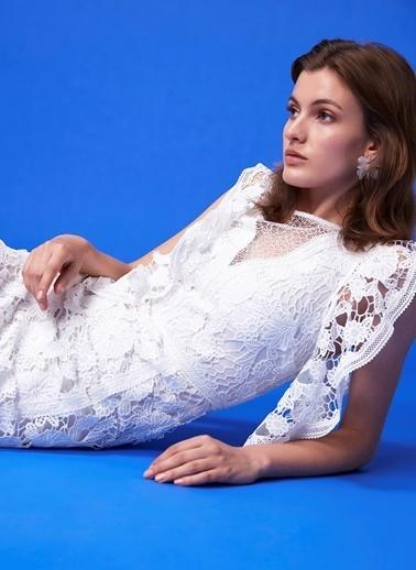 Ipekyol Güpür Form Elbise Beyaz